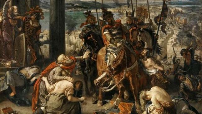 Cruzadas/https://es.wikipedia.org/wiki/Archivo:Eug%C3%A8ne_Ferdinand_Victor_Delacroix_012.jpg