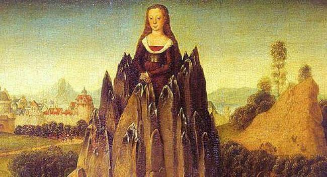 castidad/https://commons.wikimedia.org/wiki/File:Hans-Memling-allegory-chastity.jpg