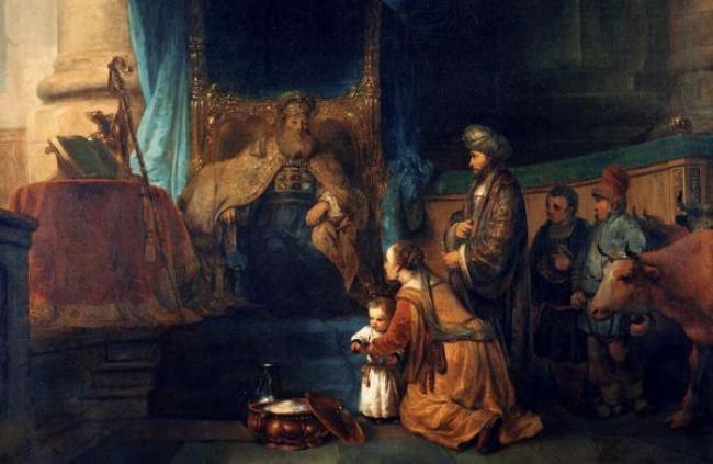 Ana presenta a su hijo Samuel al sacerdote Elí, Gerbrand van den Eeckhout (1621–1674)
