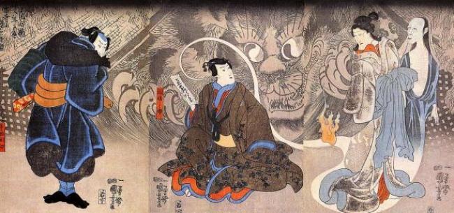 Aparición de monstruos en Arte del Japón
