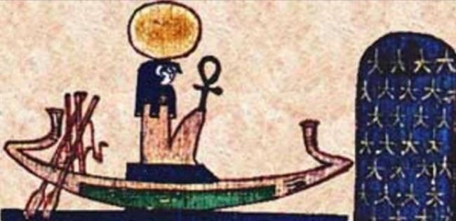 La barca de RA, Dios del Sol en Egipto / https://commons.wikimedia.org/wiki/File:Ra_Barque.jpg