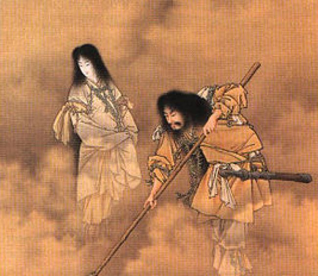 Izanagi/https://commons.wikimedia.org/wiki/File:Kobayashi_Izanami_and_izanagi.jpg