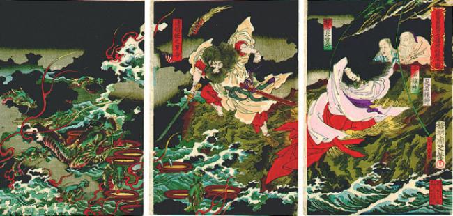 Dragon/https://commons.wikimedia.org/wiki/File:YamataNoOrochi.jpg