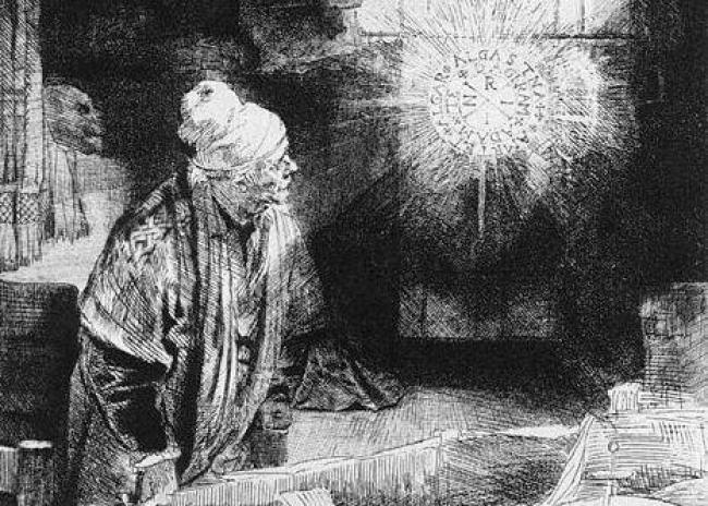 Fausto/https://commons.wikimedia.org/wiki/File:Rembrandt,_Faust.jpg